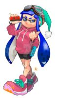 Splatoon - Inkling with the Joycons! by kaiser-nagai