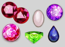 Active Crystal Gems by quinntheking