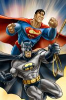 Batman and Superman by Robert-Shane