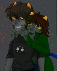 Karkat and Nepeta (Homestuck) by 7H47-0N3-N3RD