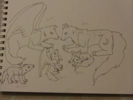 Family WIP by AbyssinalPhantom