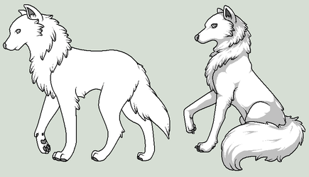 Auki: Wolf Templates by Roleplay-Adventures
