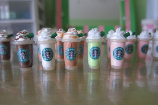 Polymer Clay Starbucks Charms by LittleSweetDreams