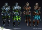 Guild Wars 2: Heart of Thorns - Heavy Bladed Armor by Alemja