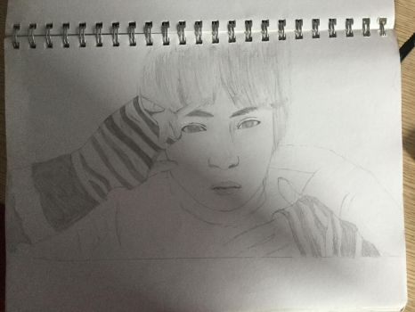 Jin - Spring Day Drawing by X-BTS-X