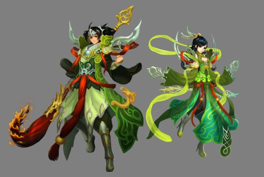 Chinese style Armor design by ilison