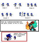 [Custom Sonic Poses] MapleS Sword Poses Conversion by FrostBurned-Soul