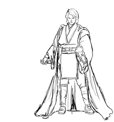 Hitokirisan 4 0 Anakin Skywalker Sketch By
