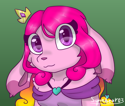 Pink on green is oki I guess [Commission] by synnibear03