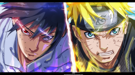 Naruto vs Sasuke final fight by The-103