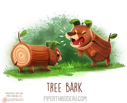 Daily Paint 1617. Tree Bark by Cryptid-Creations