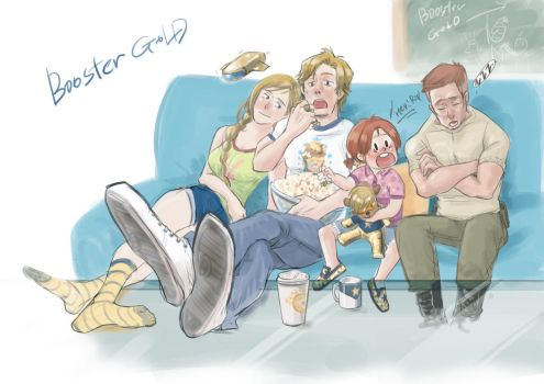 Booster Gold, Rani, Riphunter, Michelle by monster3x