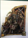 Jester Mordheim artwork, very old artwork, Games W by Wiggers123