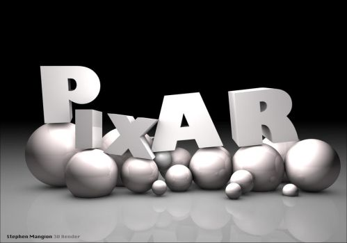 3d rendition of the Pixar Logo by mangion