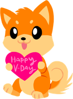 V-Day Shibe by HeartinaRosebud