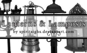 Lanterns and Lightposts by spiritsighs-stock
