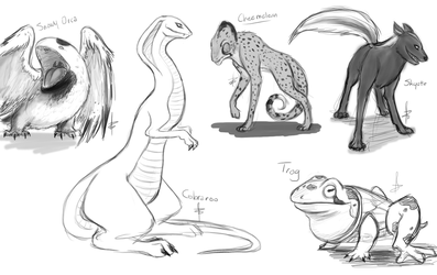 Nostalgia Sketches_Impossible Creatures by BazzlewithaK