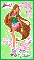 Flora of Winx Cafe style by LaminaNati