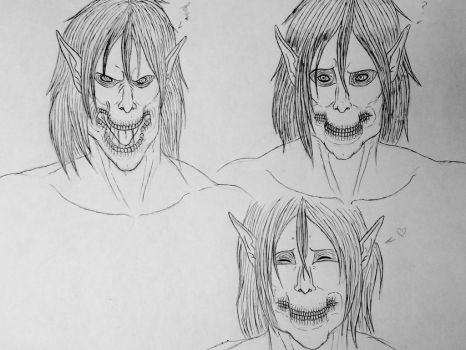 Rogue/Attack Titan expressions by Redspets