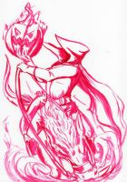 Daily Sketch: Headless Horseman by Hunchy