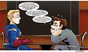 TDS/TCR Avengers Comic: Captain America by Saturn-Kitty