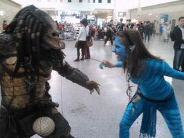 An odd stand off - Expo 2010 by 2Dismine