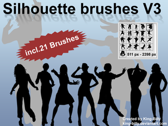 Silhouette brushes V3 by King-Billy
