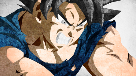 Ultra Instinct Minimalistic Textured Wallpaper by KhUnlimited