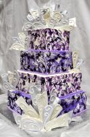Purpe Chaos Wedding Cake by forgetmmenot