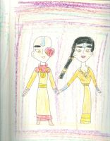 Zuko and Akiko as an Air Nomaid couple by Kelseyalicia