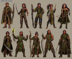 Legend of Spirehold Character Designs by TheFirstAngel