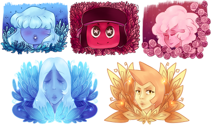Crystal Gems and Friends by SaphireCat11