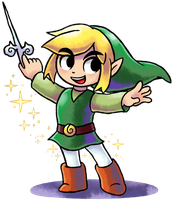 ''Mario+Luigi'' RPG Style: Toon Link [UPDATED] by MAST3R-RAINB0W