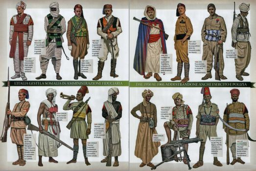 Italian colonial soldiers by YamaLama1986
