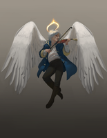 (Commission) Aasimar Bard by z4m97