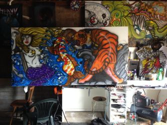 Freehand air brushing W.I.P.... by RealityBitez