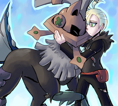 gladion and type: null by Peegeray