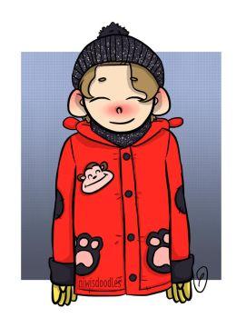 Ash in a kids winter coat by Amnesia5sos