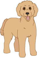 Goldendoodle by Miiroku