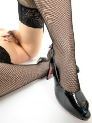 high heels and fishnet by CarloWagner