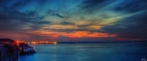 Changi End Sunset by Draken413o