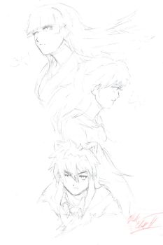 Inuyasha-Portrait sketch by Mark-Clark-II