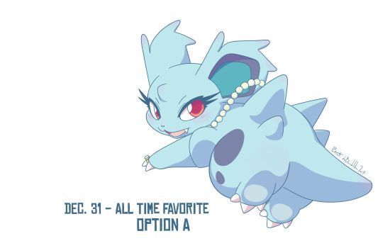 Dec 31 (Option A) - Nidorina by p-debardelaben