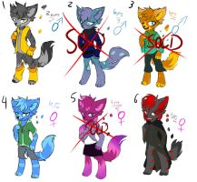 Anthro Adoptables by MidnightBlaze16
