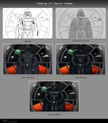 Making of Darth Vader by chris-illustrator