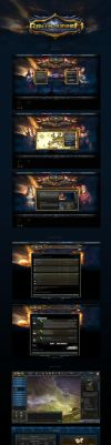 Realms of Mayhem Web Design and Game UI by karsten