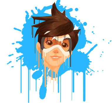 Tracer Overwatch - Paint by Keithyboy