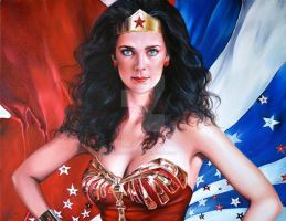 ICONS: WONDER WOMAN/LYNDA CARTER by FredIanParis