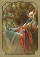 Thranduil throned by BohemianWeasel