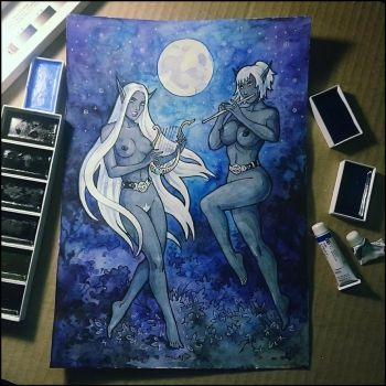 Sketchbook - Linath and Venorsh by Candra